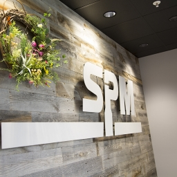 SPM signage in Chicago office